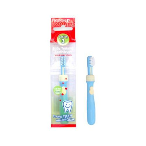 Pigeon Baby Training Toothbrush Lesson 3 Blue 12 months+