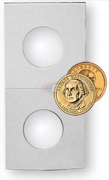 500 Count 2X2 Premium Cardboard Coin Holders (Small / Sacajawea Dollar) 26.5 mm.
