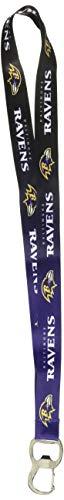 (NFL Baltimore Ravens Ombre Lanyard, Black/Purple, Onse Size)