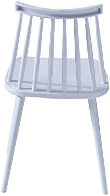 1234 Lot de 2 Chaise de Salle à Manger en Plastique Chaise de Loisirs Moderne avec Dossier pour Salle à Manger Salon Cuisine Restaurant et café Multicolore (Blanc)