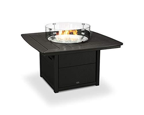 "Amazon.com : POLYWOOD 42"" Nautical Fire Pit Table (Black) : Garden & Outdoor"
