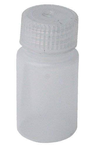Vestil BTL-N-1 Narrow Mouth Low Density Polyethylene (LDPE) Round Plastic Bottle with Natural Cap, 1 oz Capacity, Translucent