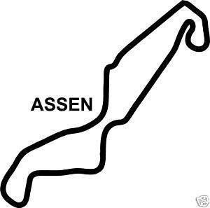 White Online Design Assen Sticker Decal Race Circuit Moto Gp Dutch Bike