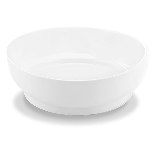 Mid Century Salad (Bon Chef 1500001P Mid Century 9.1 Inch x 8.9 Inch x 3.1 Inch Salad Bowl, Fine Porcelain Dinnerware, Round Soup, White (Pack of 12))