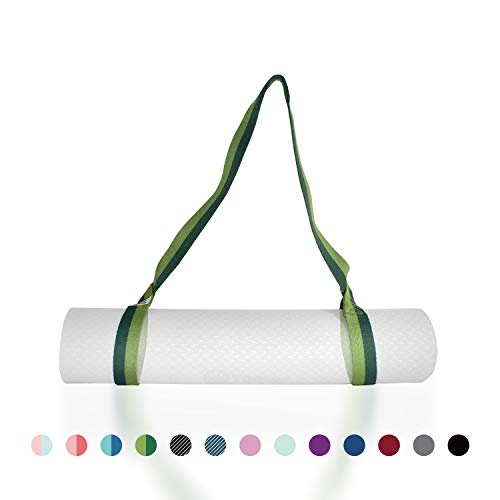 "Tumaz Yoga Mat Strap, Adjustable Mat Carrier Sling & Stretching Strap with Thick, Durable and Comfy Delicate Texture, 64"" & 85"" Inches, Multiple Color Choices [Mat NOT Included] from Tumaz"