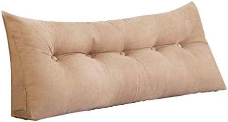 柔らかい枕、三角コーナーダブルヘッドボード、ホームオフィス用背もたれ、ベッドサポート、洗える5色、5サイズ(色:ベージュ、サイズ:120CM)