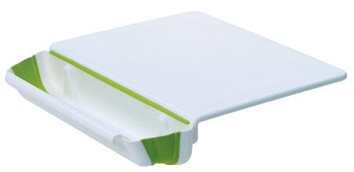 Progressive International, PCB-3600 11x15 Counter Edge Cutting Board with Collapsible Scrap Bin -
