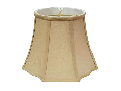 - Royal Designs BS-701-16AGL Flare Bottom Outside Corner Scallop Lamp Shade, 9 x 16 x 12, Antique Gold Color