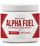 MaxGenics Alpha Fuel Pre Workout Performance Testosterone Booster and Brain Enhancer Supplement 30 Servings