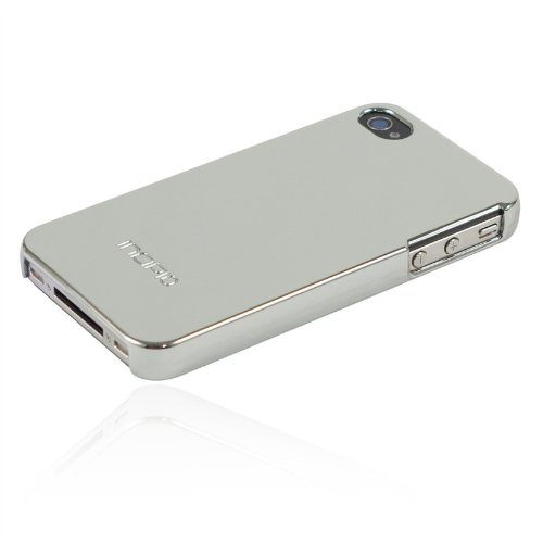 Incipio iPhone 4/4S feather Ultralight Hard Shell Case - 1 Pack - Carrying Case - Retail Packaging - Chrome