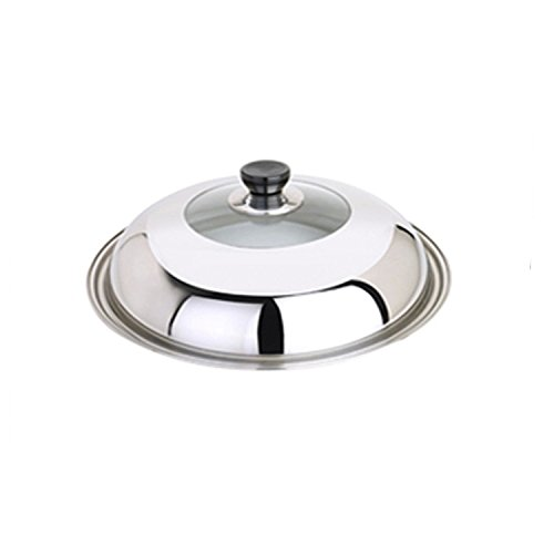 Vipe Endurance Stainless Steel Universal Lid with Glass Insert, Fits pans 11-15 Inch (XXL)