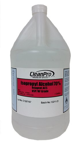 CleanPro 70% Isopropyl Alcohol (IPA), USP-Grade, Case of 4 Gallons by CLEANPRO