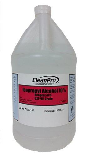 70% Isopropyl Alcohol (IPA), USP-Grade, Case of 4 Gallons
