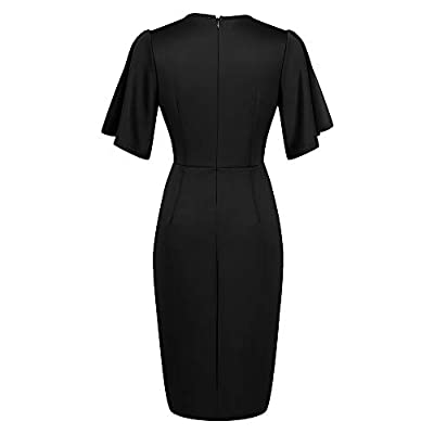Zshujun 1950's Women's Vintage Stretchy Work Casual Bodycon Sheath Pencil Dress 1189 at Women's Clothing store