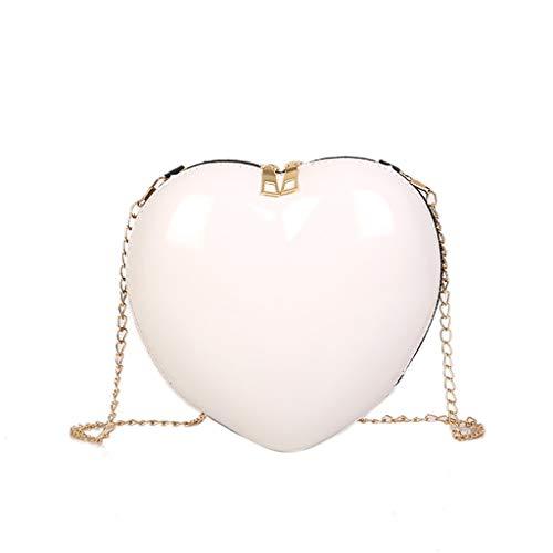 Willow S Fashion Women Shoulder bag Zipper Heart-shaped Crossbody Bag Simple Shoulder Bag