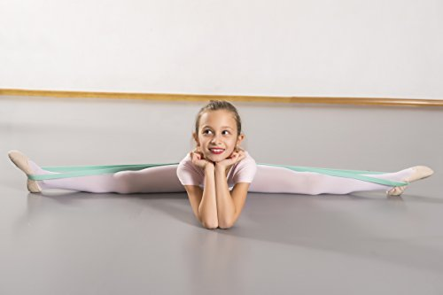 Ballet Stretch Band by Arragma | Flexibility-Improving Latex Resistance Band for Dance and Gymnastics with Storage Bag + Sterling Silver Ballerina Pendant by Arragma (Image #5)