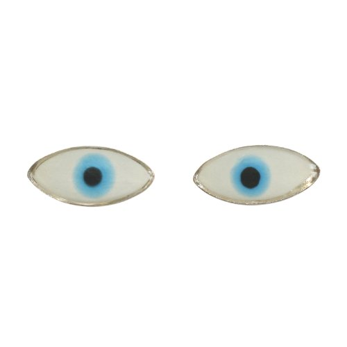 So Chic Jewels - Sterling Silver Eye - Protection Amulet Stud Earrings