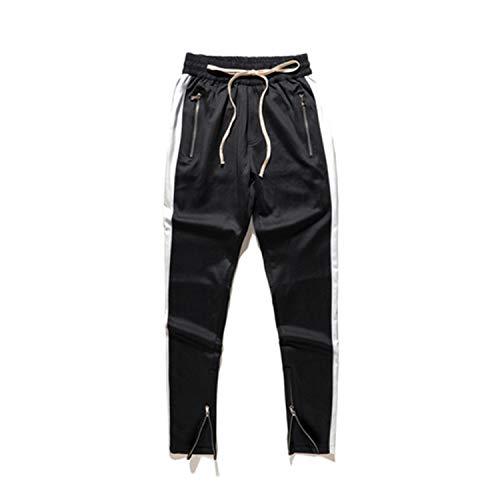 Stripe Streetwear Pantaloni Street Hop Abbigliamento Sportivi Thinkin Jogging Long Side Da Hip Negozio Wear Moda Bianca Uomo qRZXW1