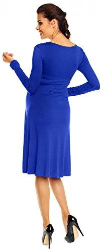 Women's Maternity Stretch Dress Empire Waist 890c Long Sleeves Zeta Ville