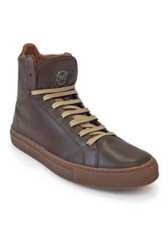 Sneaker Herren Ineguagliabile Scarpa Da Uomo Alta Lewis - Nero Antico - Classico Marrone Braun