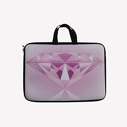 3D Printed Double Zipper Laptop Bag,Desgin Wedding Celebration Treasure Digital,10 inch Canvas Waterproof Laptop Shoulder Bag Compatible with 9.7