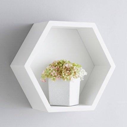 Bjorn Hexagon Shelf White Amazon Co Uk Kitchen Home
