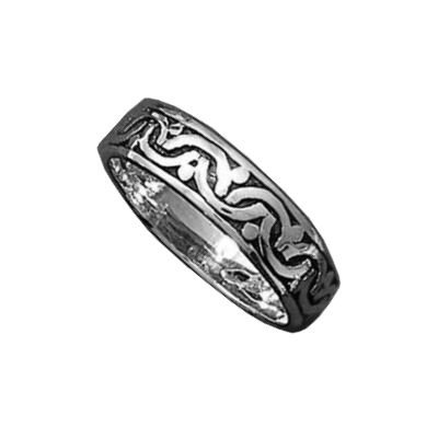 So Chic Jewels - Sterling Silver Viking Celtic Pattern Band Ring
