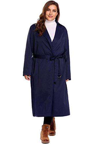 afferty Women's Rain Jacket Outdoor Waterproof Packable Raincoat Rain Poncho Rainwear with hood Belt