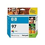 HP 97 Tricolor Ink Print Cartridges C9349BN Twin Pack