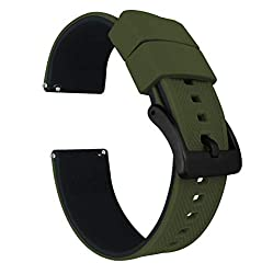 Image of the product 20mm Army Green/Black   that is listed on the catalogue brand of Barton Watch Bands.