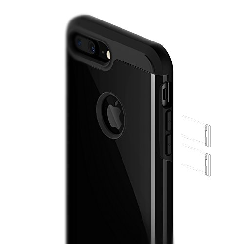 cheaper 78083 79647 Caseology Legion for iPhone 7 Plus Case (2016) - Dual-Layer Armor - Jet  Black