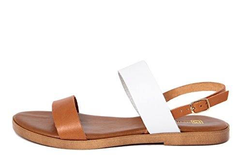 GAGLIANI RENZO - Sandalias de vestir de Piel Lisa para mujer blanco Weiß