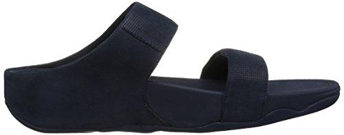 Fitflop Kvinners Lulu Shimmer Semsket Lysbilde Kjole Sandal Midnatt Navy