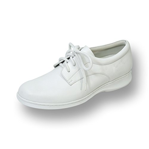 24 HOUR COMFORT Lia Women Wide Width Lace Up Shoe WHITE 10.5 by 24 Hour Comfort