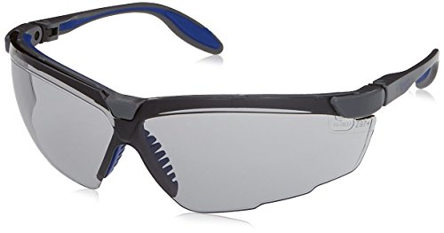 Uvex S3513X Genesis X2 Safety Eyewear, Silver and Navy Frame, 50-Percent Gray UV Extreme Anti-Fog Lens