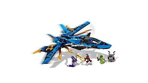 31EYIcDVVTL - LEGO NINJAGO Legacy Jay's Storm Fighter 70668 Building Kit, New 2019 (490 Pieces)