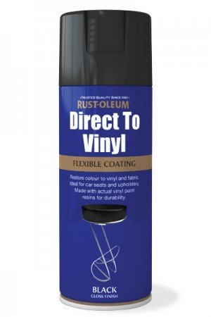 Rust-Oleum Direct To Vinyl Aerosol Spray Paint Black Gloss Chairs...