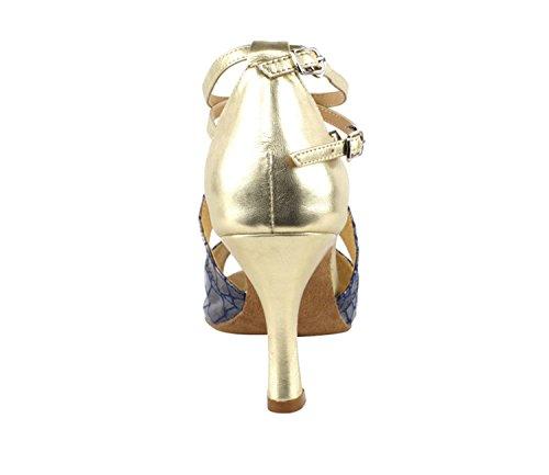 Bellissime Scarpe Da Ballo Da Donna Da Ballo Per Donna Eksa7004 Con 2,5 Tacco Con Protezioni Tallone Oro