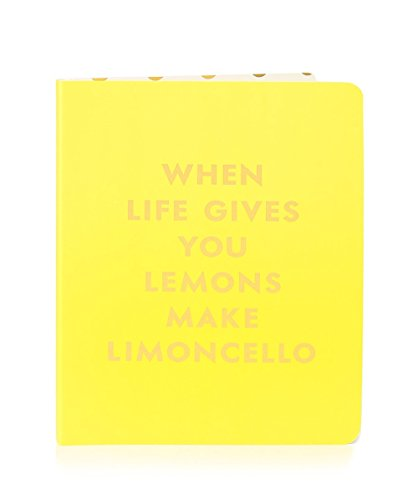 Kate Spade Concealed Spiral Notebook, Limoncello, Bright Yellow (173244)