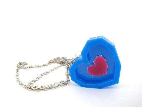 Zelda Piece of Heart Necklace – Acrylic Pendant – Handmade – Length 18+2