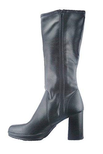 Nero Tacco Scarpe Dior Di Blocco Donna Stivale Elasticizzato Fiori Modello Mercante gqR84