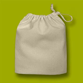 Natural Small 100% Cotton Drawstring Bag 20x24cm - ideal for Gift ...