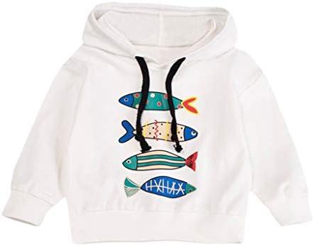 Hoodie - Sudadera con capucha para niños, diseño de pez: Amazon.es ...