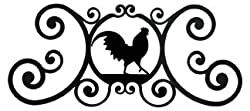 24 Inch Rooster Over Door Plaque