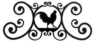 (24 Inch Rooster Over Door Plaque)