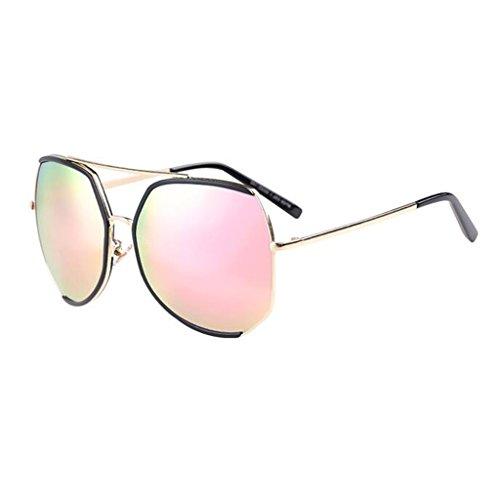 Sol Color Grande De Playa QZ De UV Harajuku 3 Gafas Moda Poligonal Vintage Protección Caja 4 HOME tPqq6wx1