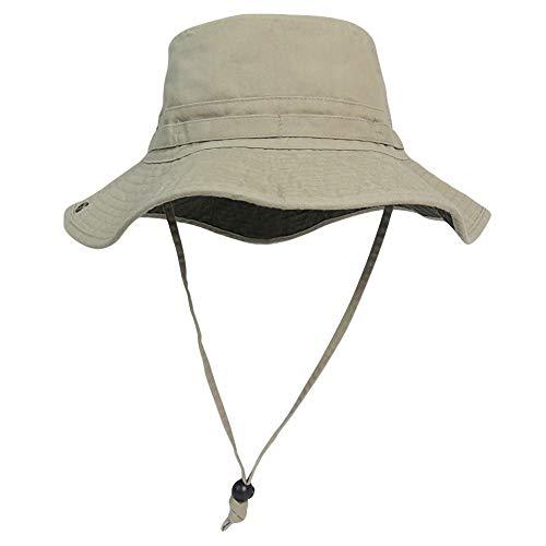 - Phaiy Bucket Hat Wide Brim UV Protection Sun Hat Boonie Hats Fishing Hiking Safari Hats for Men and Women Khaki