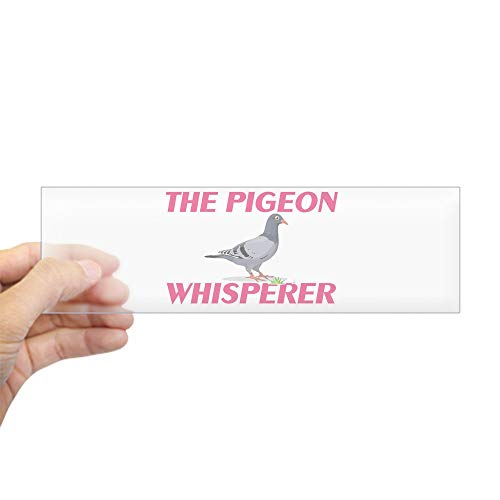 "CafePress The Pigeon Whisperer Bumper Sticker 10""x3"" Rectangle Bumper Sticker Car Decal"