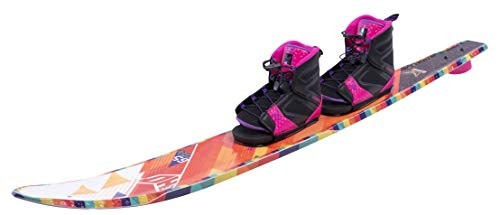 HO Sports 2019 Women Freeride Water Skis 65 Inches with Women FreeMax Boot Double 8.5-12.5