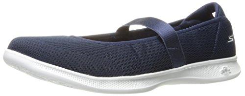 Skechers Donna Andare Passo Lite-fioritura Walking Shoe Navy / Bianco